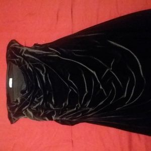 Womens size 22 Black Velvet Dress